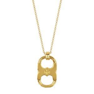 Tory Burch Gold Gemini Link Pendant Necklace